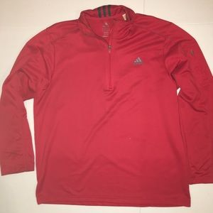 Adidas Zip neck Jersey Stripe Sweatshirt Shirt Top